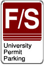 Faculty/Staff University Permit Parking sign