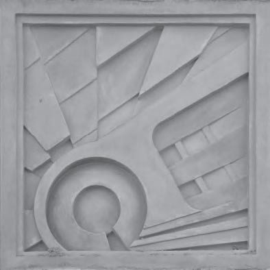 An abstract pattern garage medallion