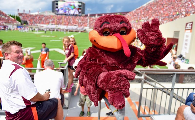 HokieBird at Football game